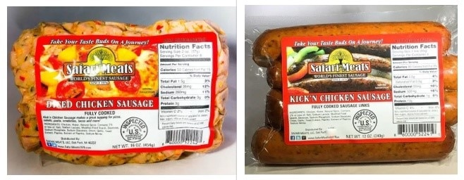 Diced Chicken and Kickin Chicken Products