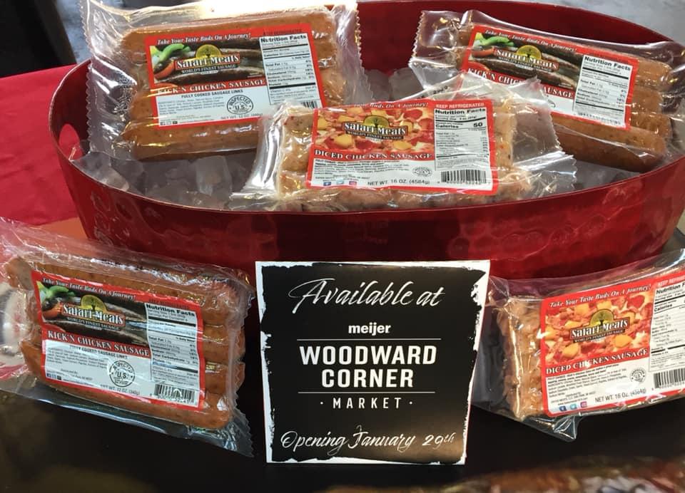 Safari Meats on Display at Woodward Corner Market