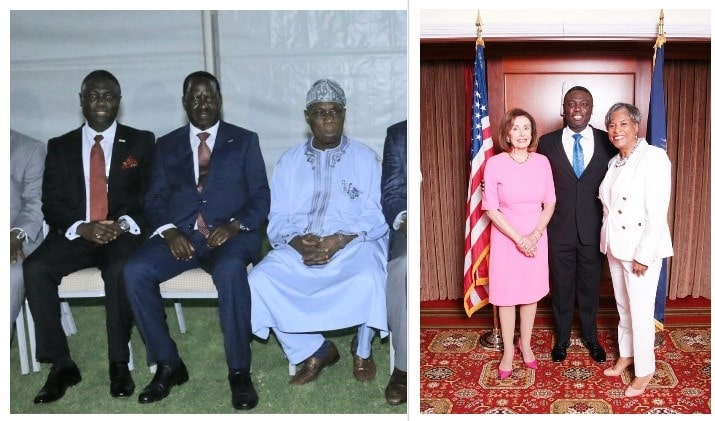 Shola Salako with African and U.S. Government Officials