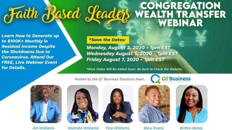 Faith Based Leaders Webinar Flyer - QT Business Solutions