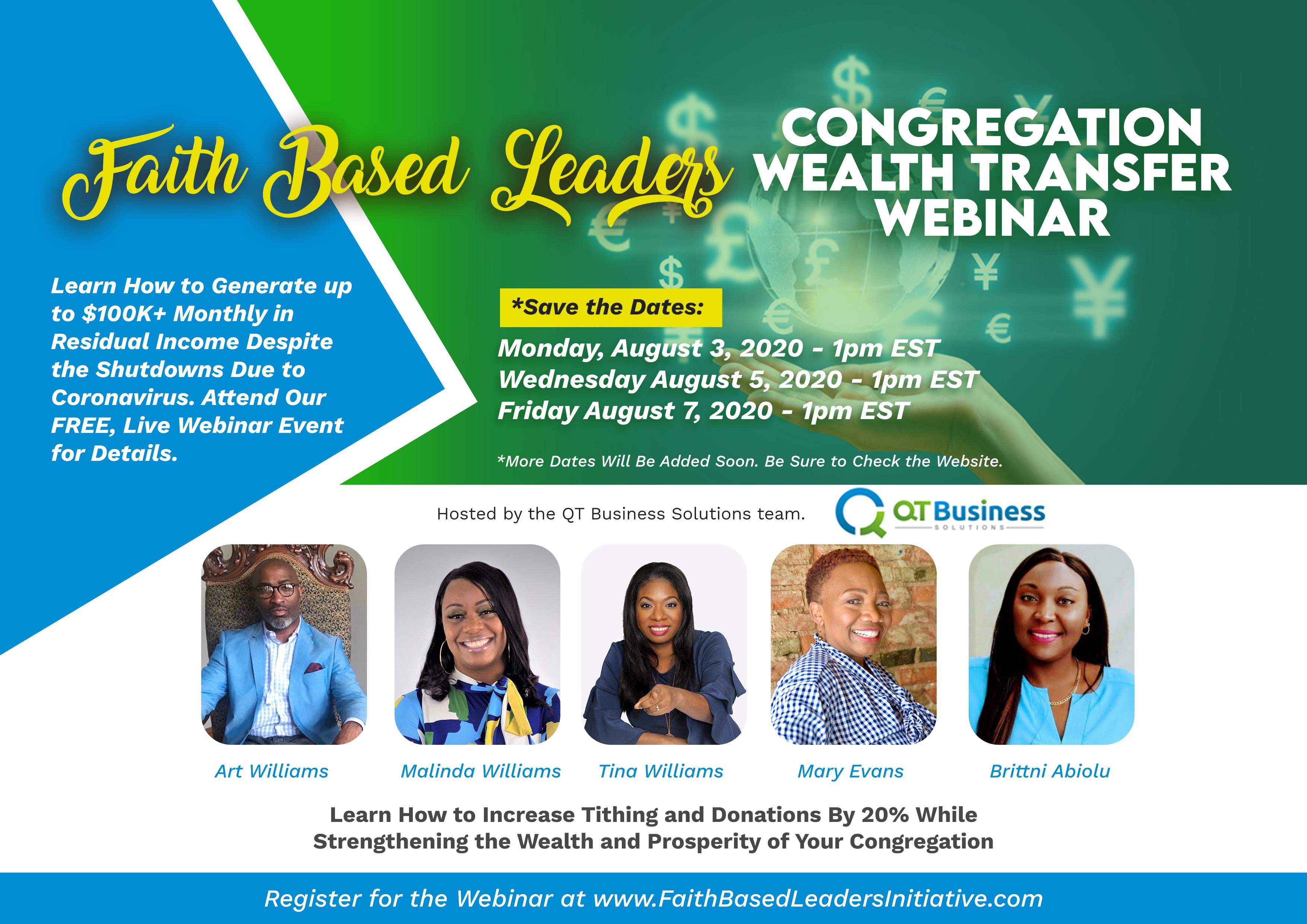 Faith Based Leaders Congregation Wealth Transfer Webinar