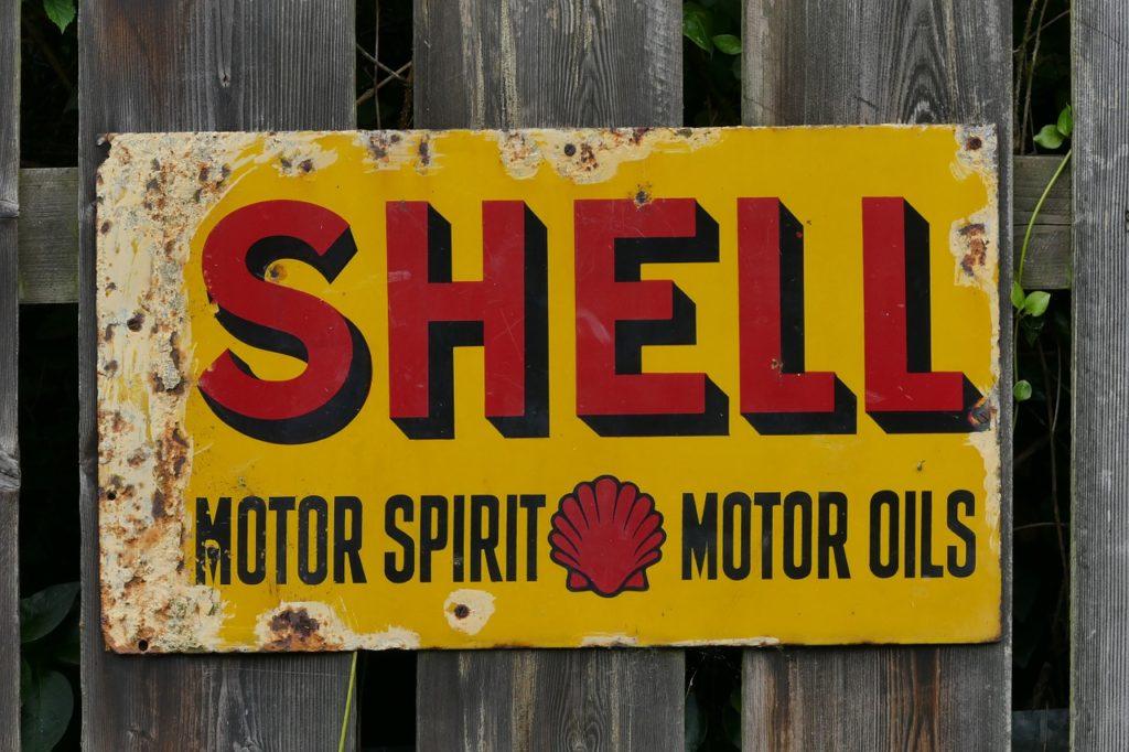 retro business metal sign